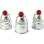 Aluminum cups and balls