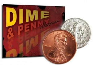 Dime and Penny Illusion