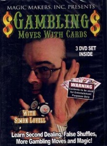 Gambling moves with cards – 3 DVD set