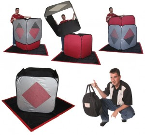 Creative Magic Cube Squared Stage Illusion Magic Trick